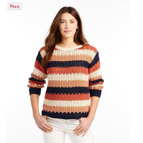 L.L. Bean Signature Bailey Island Cotton Sweater S